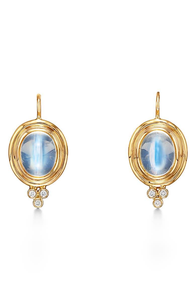 TEMPLE ST. CLAIR Moonstone & Diamond Drop Earrings, Main, color, D0.09 MS5.5 18KYG