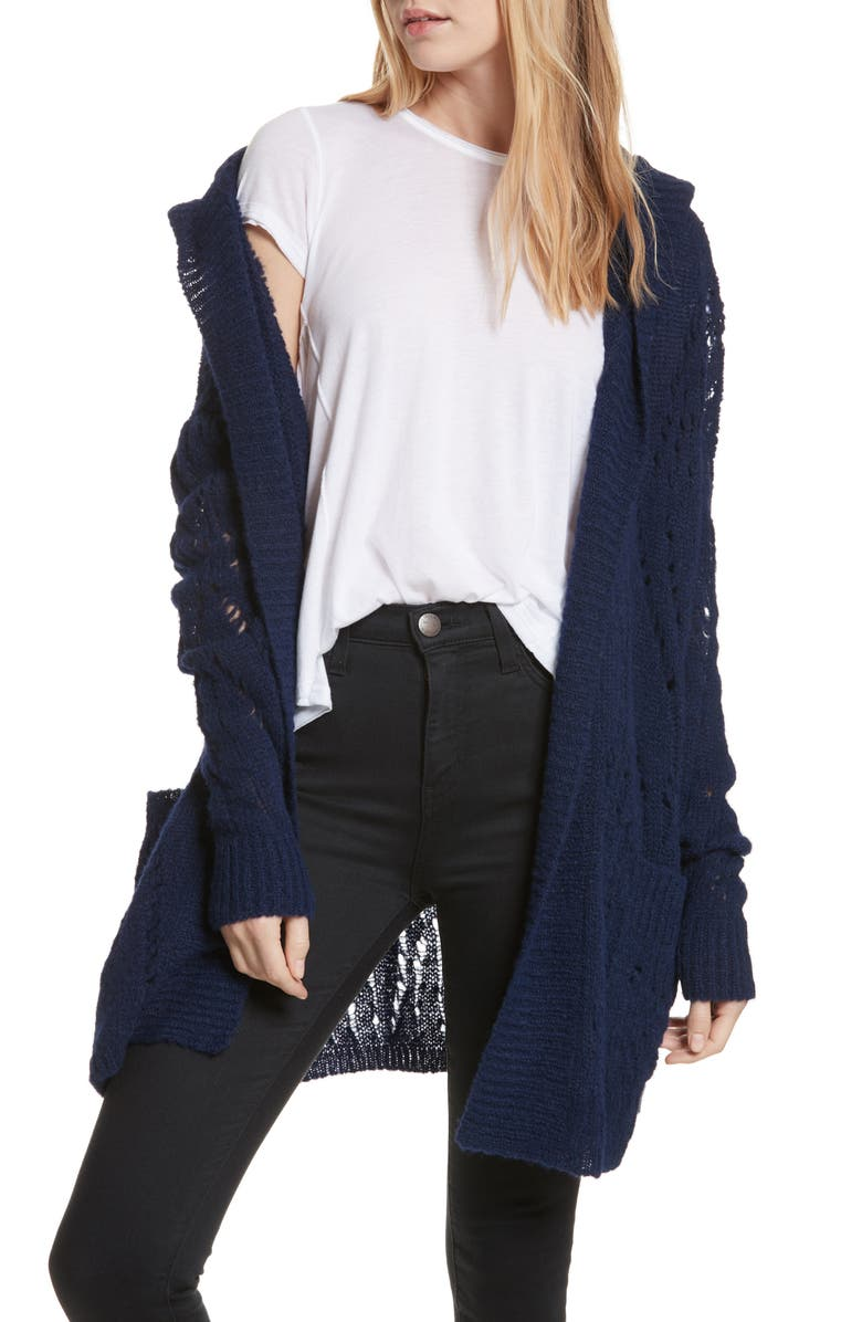 FREE PEOPLE Lemon Drop Hooded Cardigan, Main, color, 410