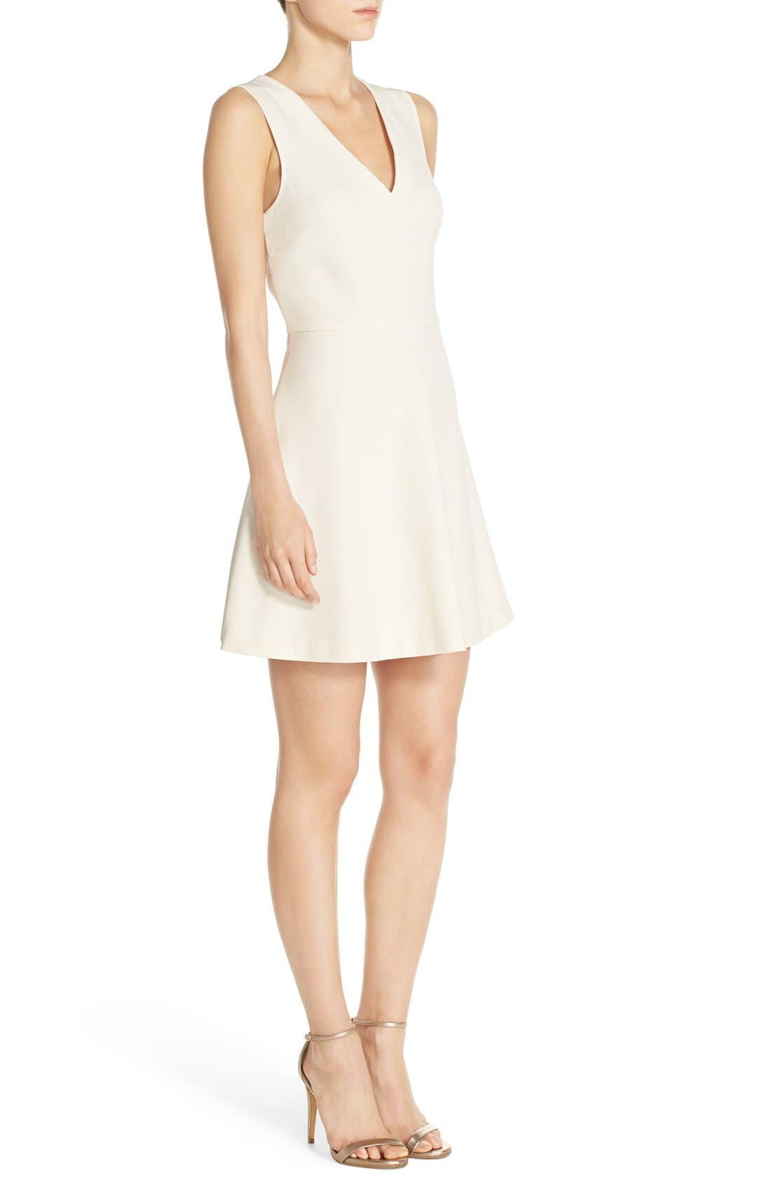 ,                             Bianca Back Cutout Fit & Flare Dress,                             Alternate thumbnail 80, color,                             907