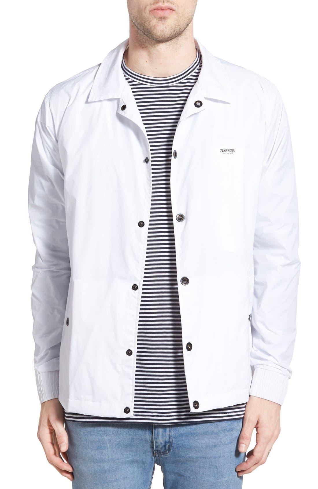 'Vega' Nylon Coach Jacket, Main, color, 100