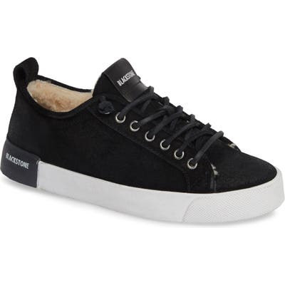 Blackstone Ql60 Genuine Shearling Lined Sneaker, Black