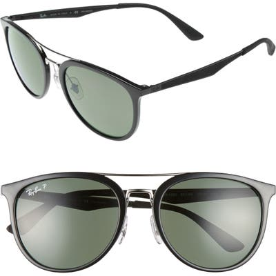 Ray-Ban 55Mm Polarized Sunglasses - Black