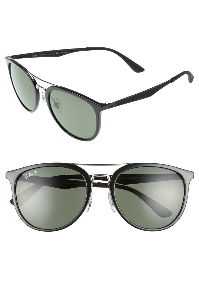 RAY-BAN 55mm Polarized Sunglasses, Main, color, 001