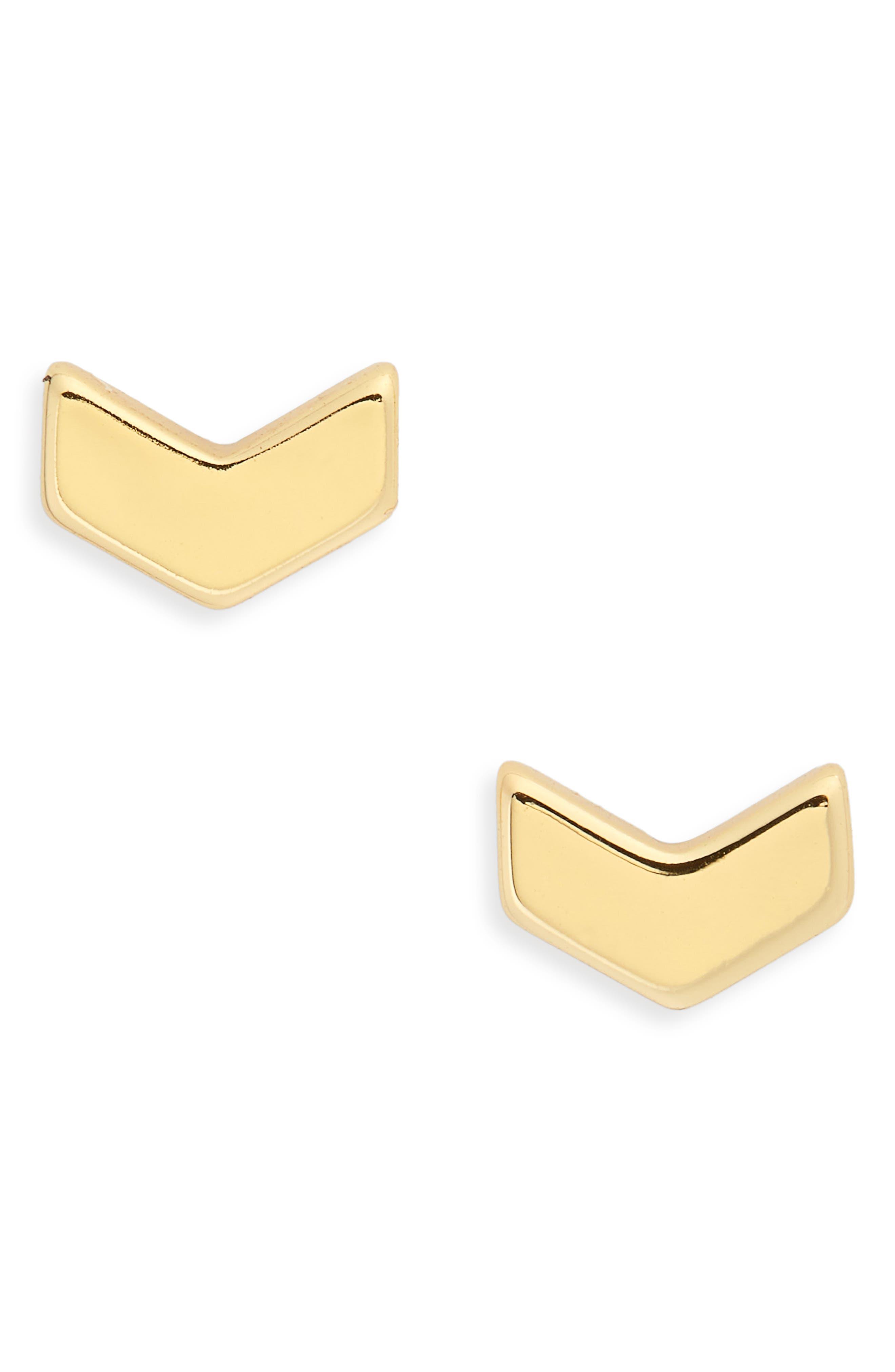 Venice Chevron Stud Earrings