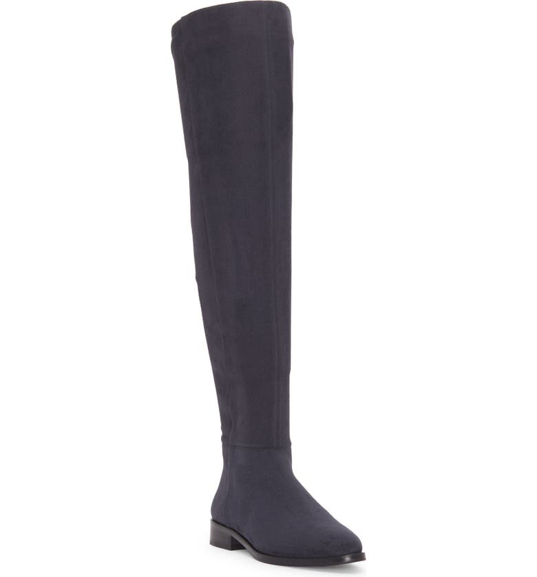 VINCE CAMUTO Hailie Over the Knee Boot, Main, color, NOCTURNE FAUX SUEDE