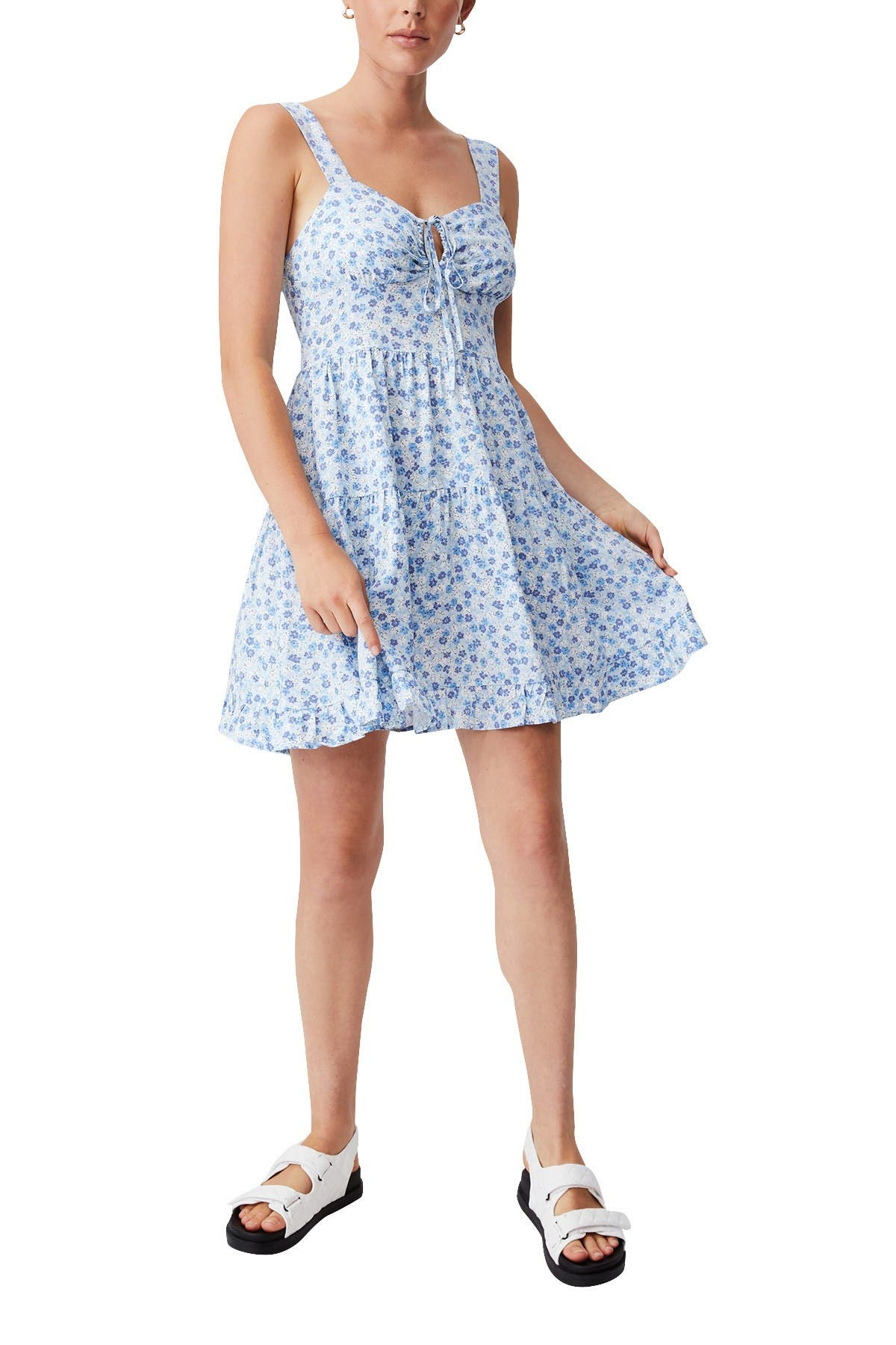 Image of Cotton On Woven Sandy Skater Dress
