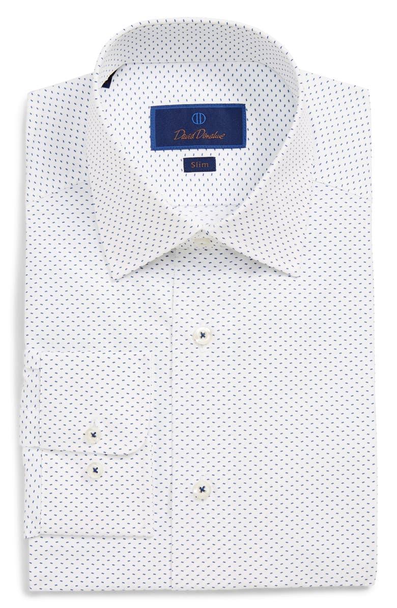 DAVID DONAHUE Slim Fit Print Dress Shirt, Main, color, 155