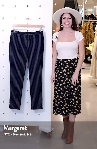Tiluna11 Pinstripe Stretch Wool Trousers, sales video thumbnail