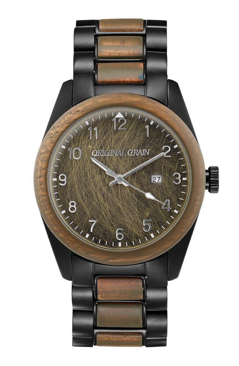 ORIGINAL GRAIN Military Classic Watch Set, 43mm, Main, color, 200
