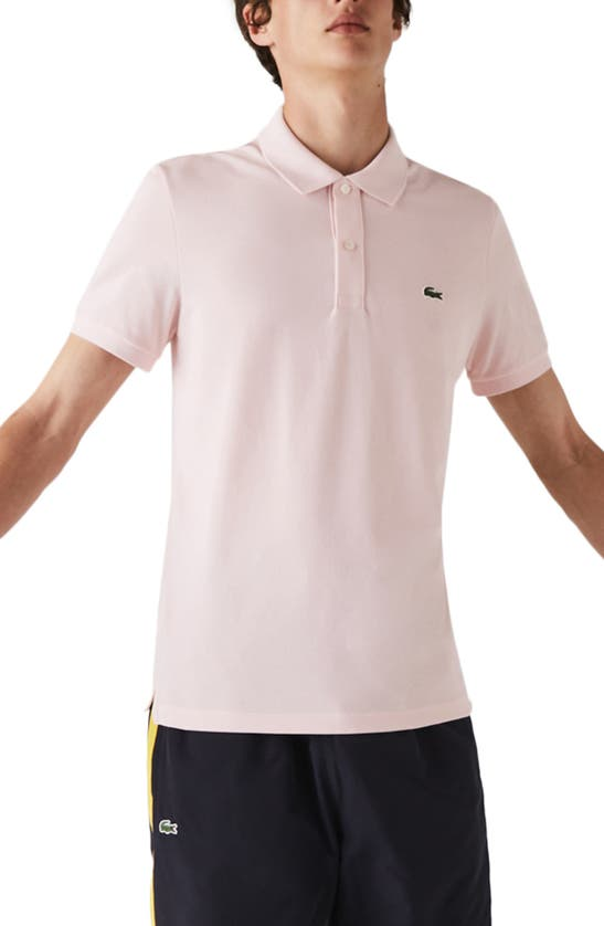 Lacoste Men's Slim Fit Multicolor Badge Polo In Pink