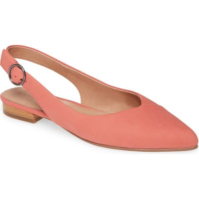 Caslon Lexie Pointed Toe Slingback Flat- Pink