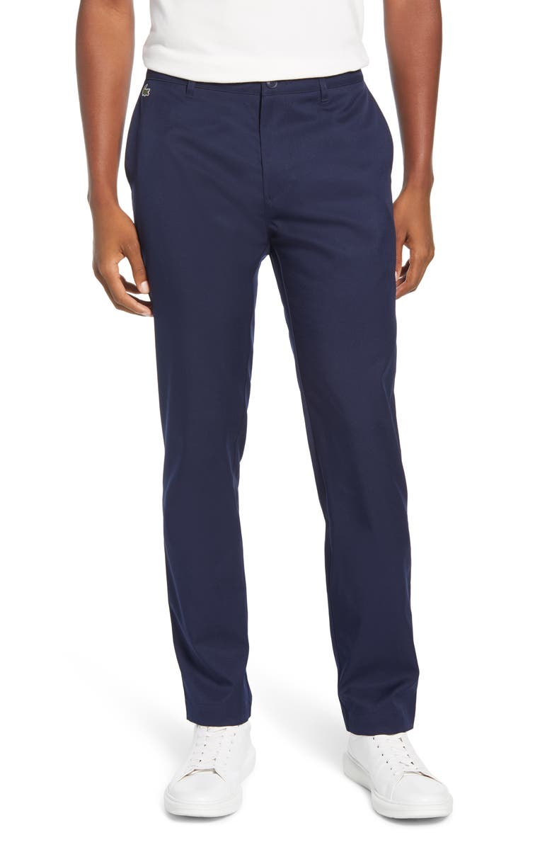 LACOSTE Ultra Dry Straight Leg Golf Pants, Main, color, NAVY BLUE
