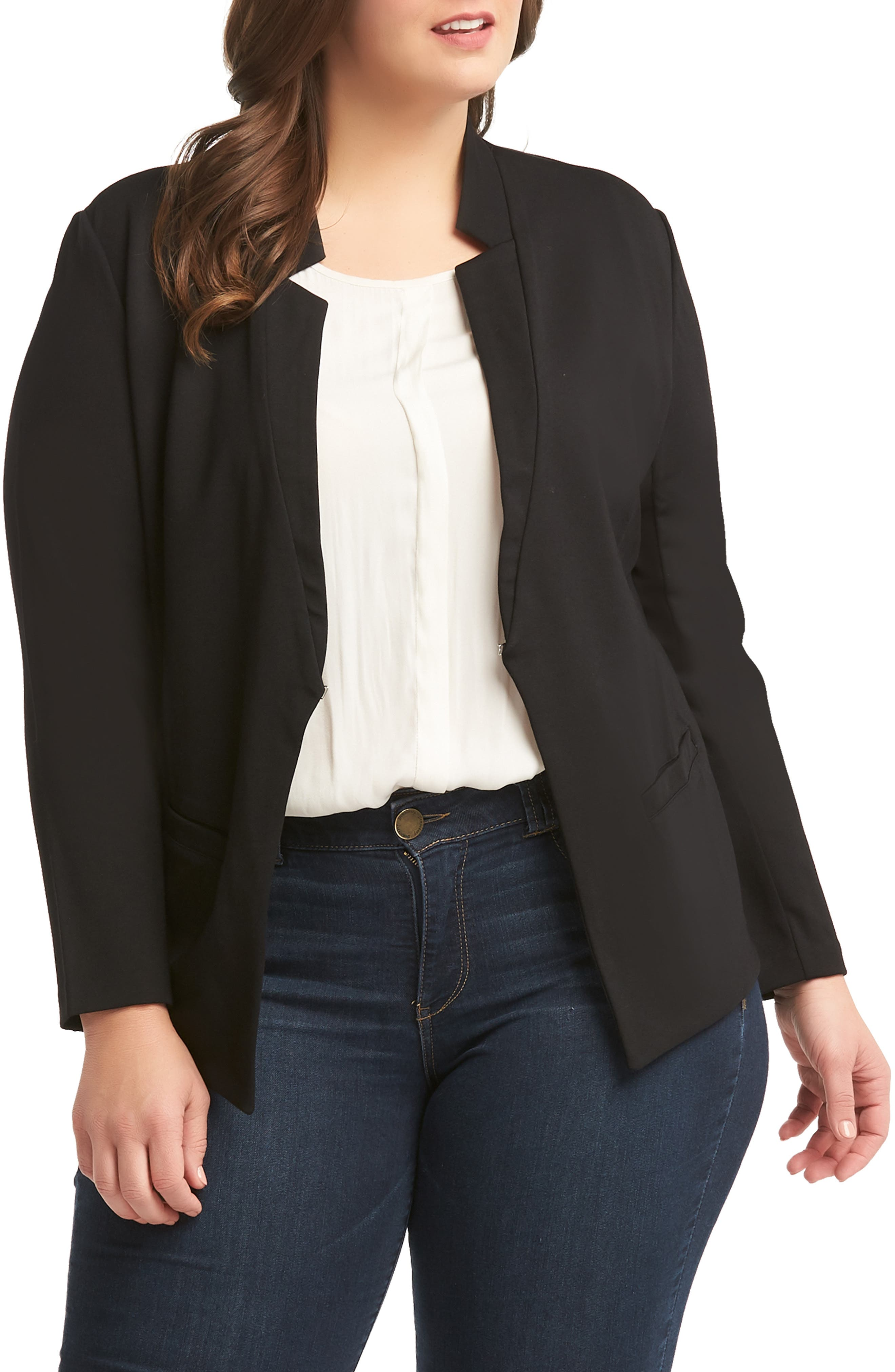 Sienna Blazer, Main, color, BLACK