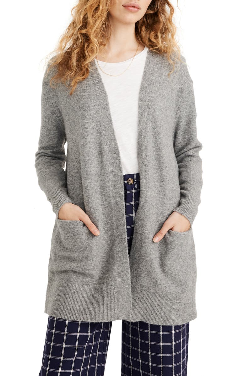 MADEWELL Ryder Cardigan, Main, color, HEATHER GREY