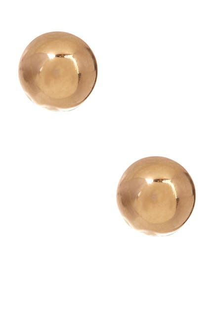 Image of Best Silver Inc. 14K Gold 4mm Ball Stud Earrings