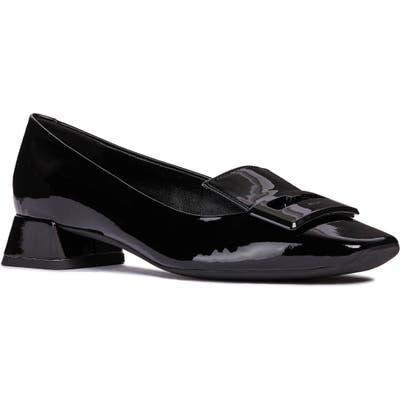 Geox Vivyanne Square Toe Loafer Pump - Black