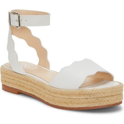 Vince Camuto Kamperla Ankle Strap Espadrille Sandal, White
