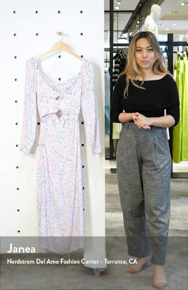 Jonael Spatter Print Long Sleeve Dress, sales video thumbnail