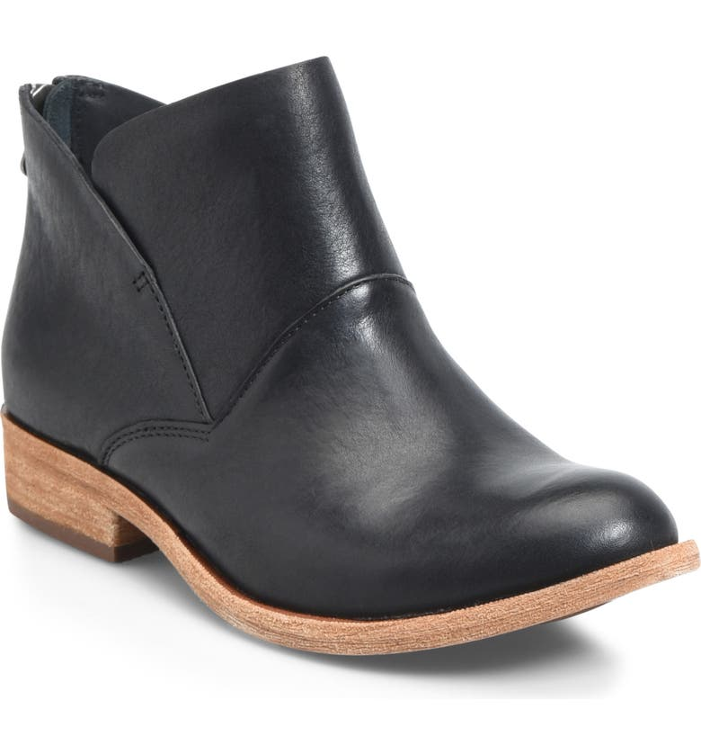 KORK-EASE<SUP>®</SUP> Ryder Ankle Boot, Main, color, BLACK LEATHER