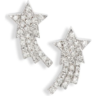 Ef Collection Shooting Star Diamond Earrings