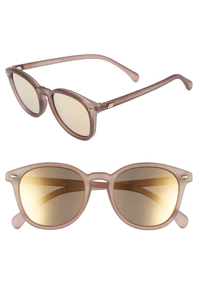 LE SPECS x Lumira Bandwagon 51mm Sunglasses & Candle Gift Set, Main, color, 020