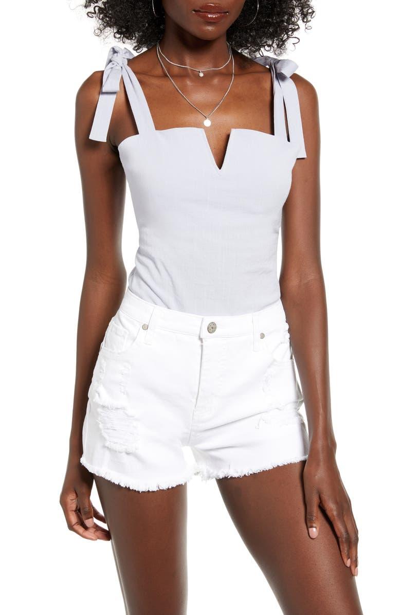 Elle Tie Shoulder Bodysuit by 4 Si3 Nna