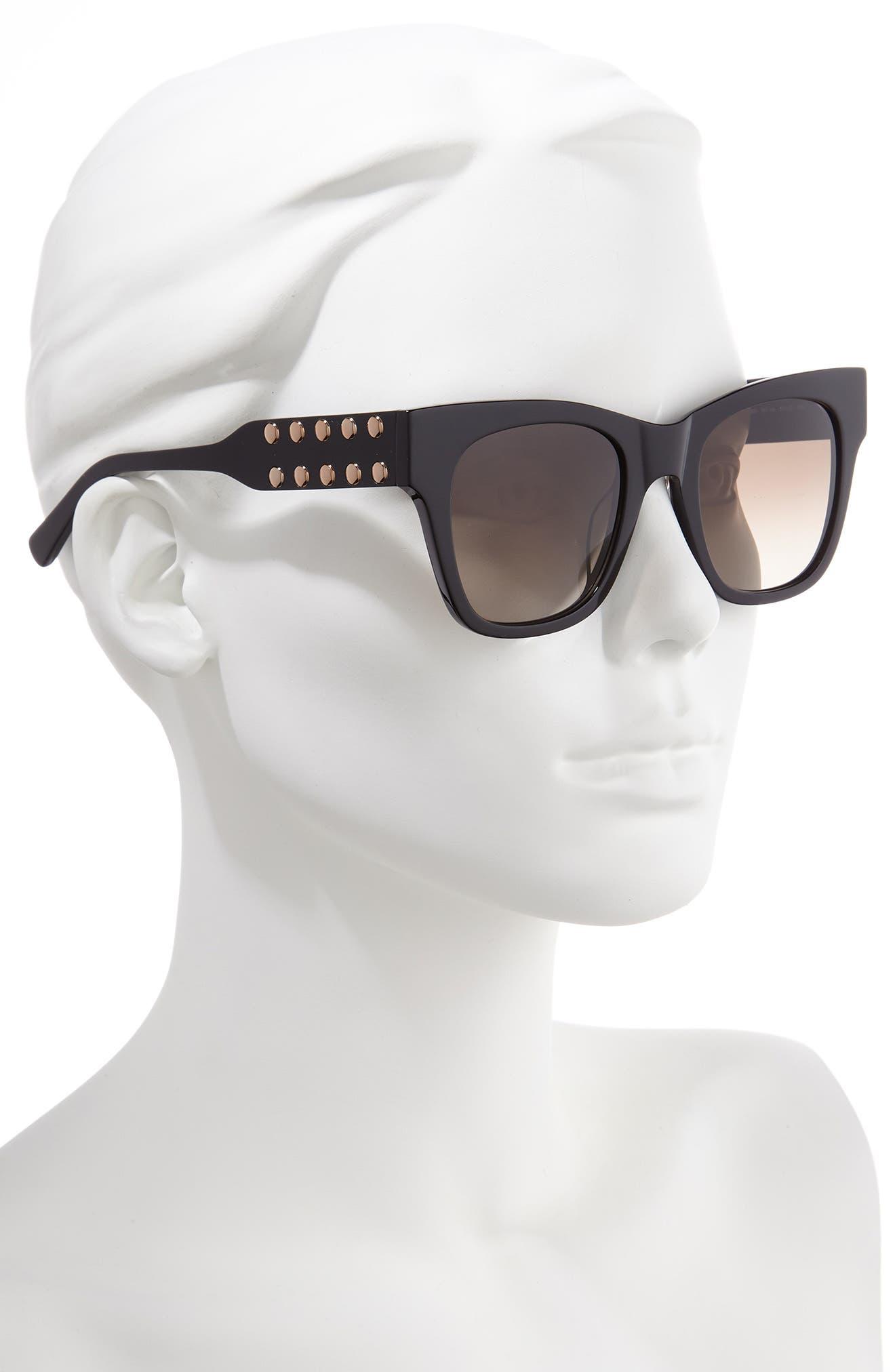 ,                             Tilden 2 51mm Gradient Square Sunglasses,                             Alternate thumbnail 2, color,                             BLACK