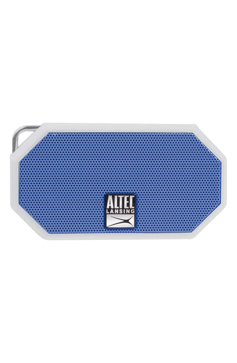 ALTEC LANSING Mini H2O 3 Waterproof Compact Speaker, Main, color, WHTE/ DEEP MID BLUE