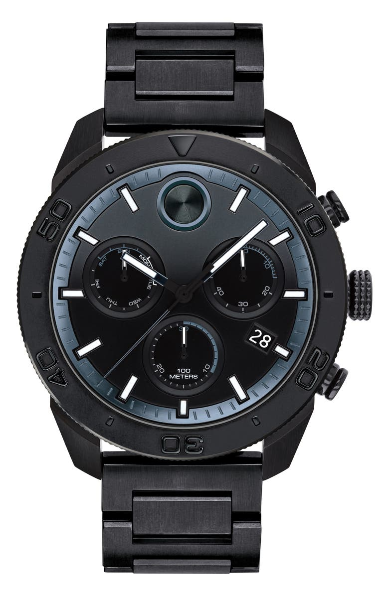 MOVADO Bold Sport Chronograph Bracelet Watch, 44mm, Main, color, 001