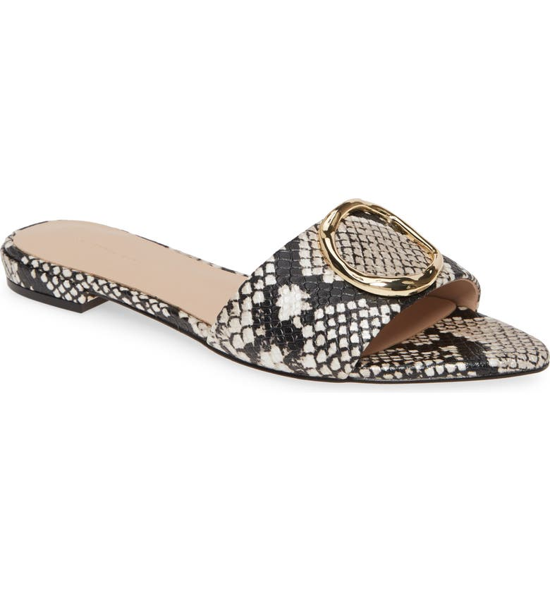 SOMETHING NAVY Cassie Pointy Toe Slide Sandal, Main, color, 002