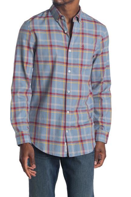 Image of Original Penguin Woven Long Sleeve Windowpane Shirt