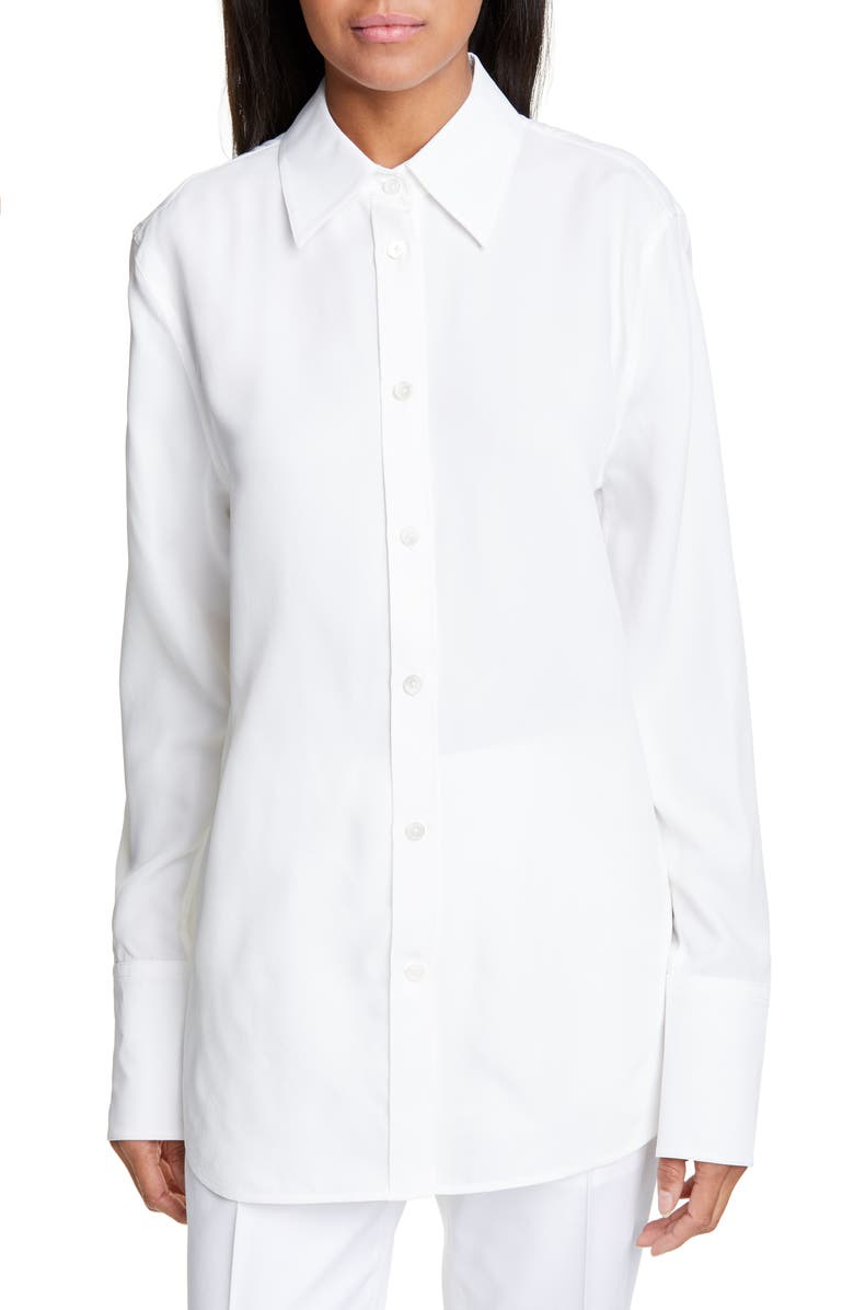 HELMUT LANG Point Collar Longline Shirt, Main, color, 168