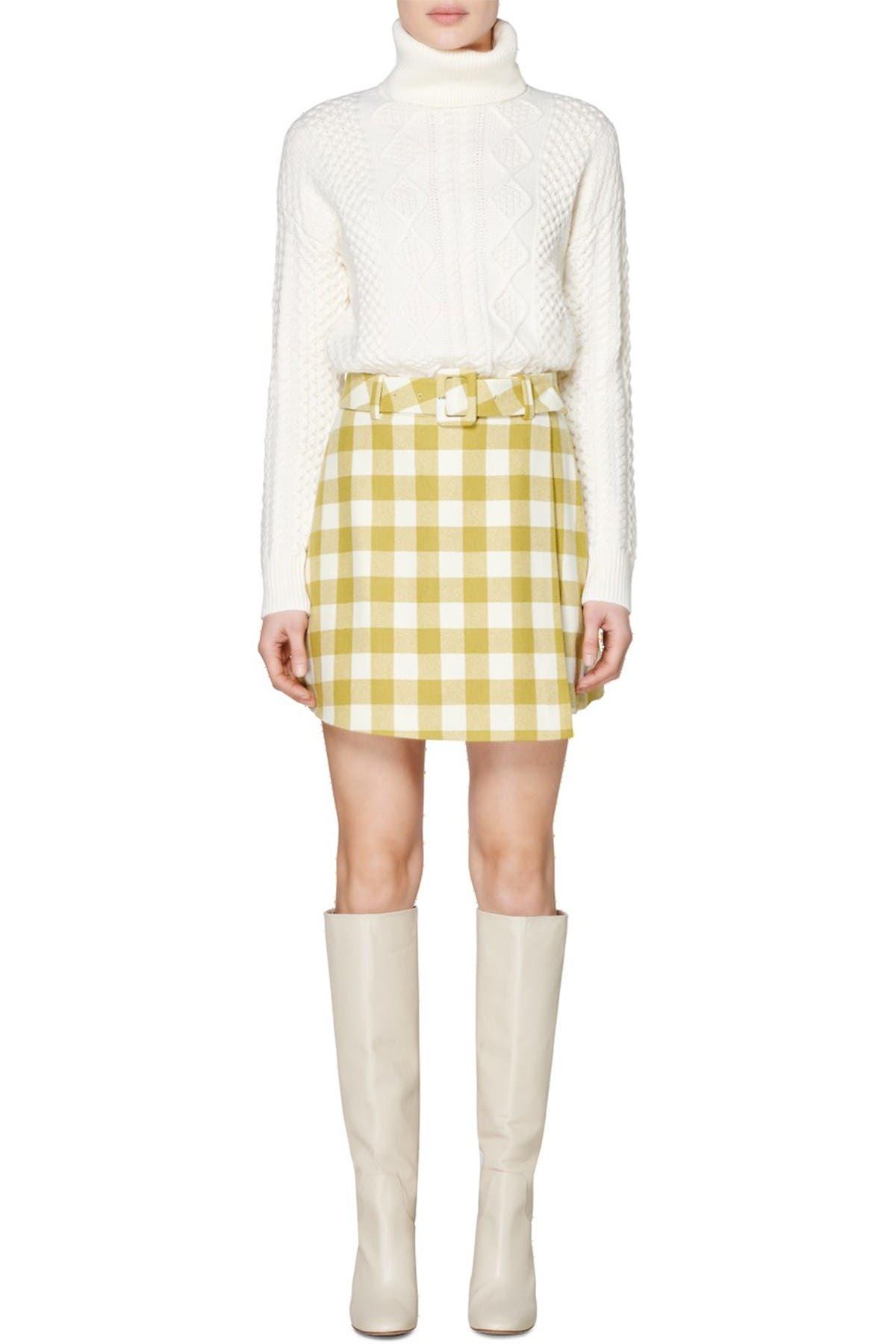 Image of SUISTUDIO Calvin Check Print Skirt