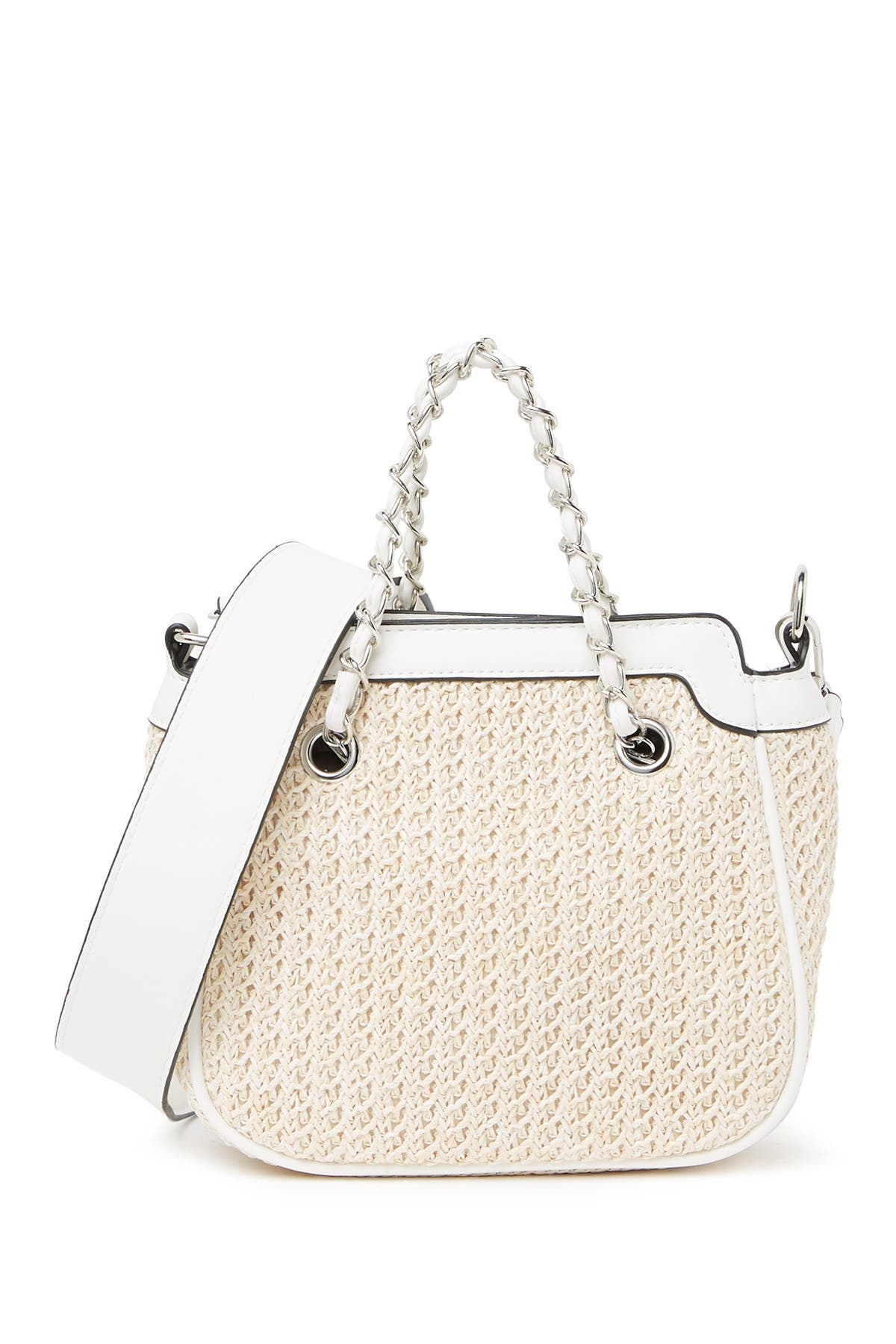 Image of Renata Corsi Woven Leather Shoulder Bag