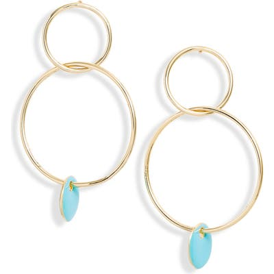 Sterling Forever Double Circle Drop Earrings