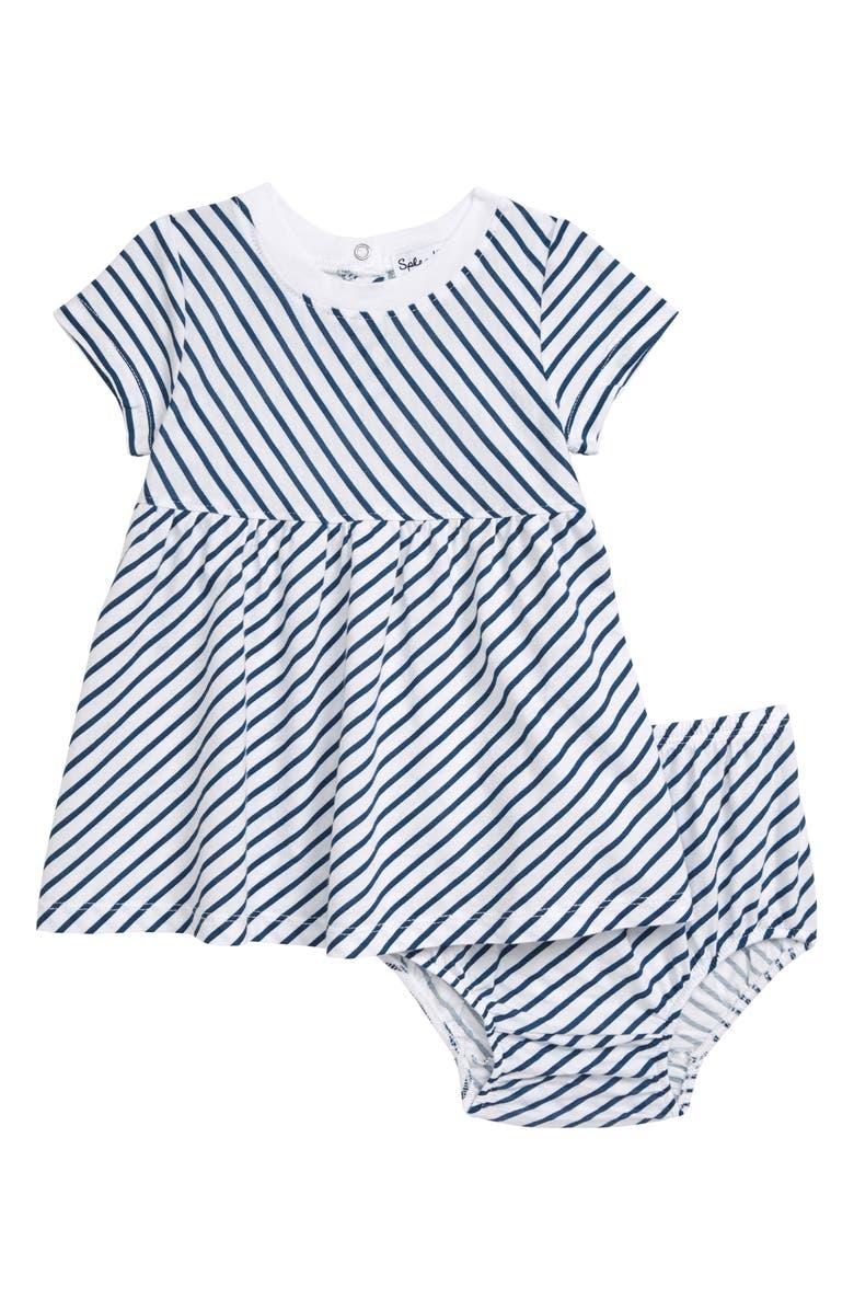 SPLENDID Diagonal Stripe Dress, Main, color, OPTICE WHITE