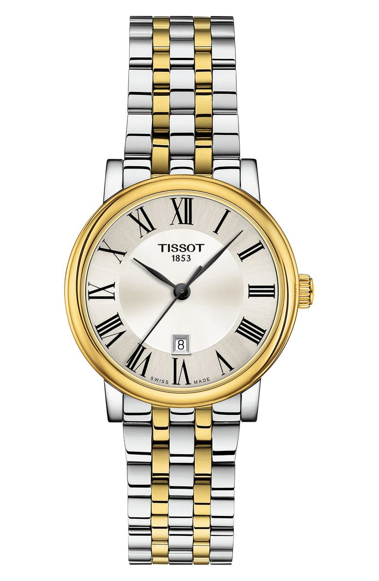 TISSOT T-Classic Carson Bracelet Watch, 30mm, Main, color, SILVER/ GOLD