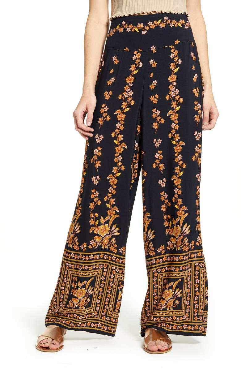 BAND OF GYPSIES Luxor Wide Leg Pants, Main, color, 001