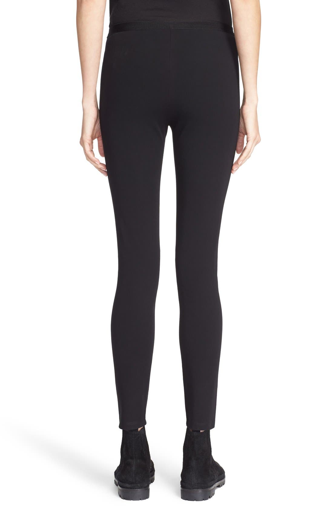 ,                             Mid Rise Leggings,                             Alternate thumbnail 8, color,                             BLACK