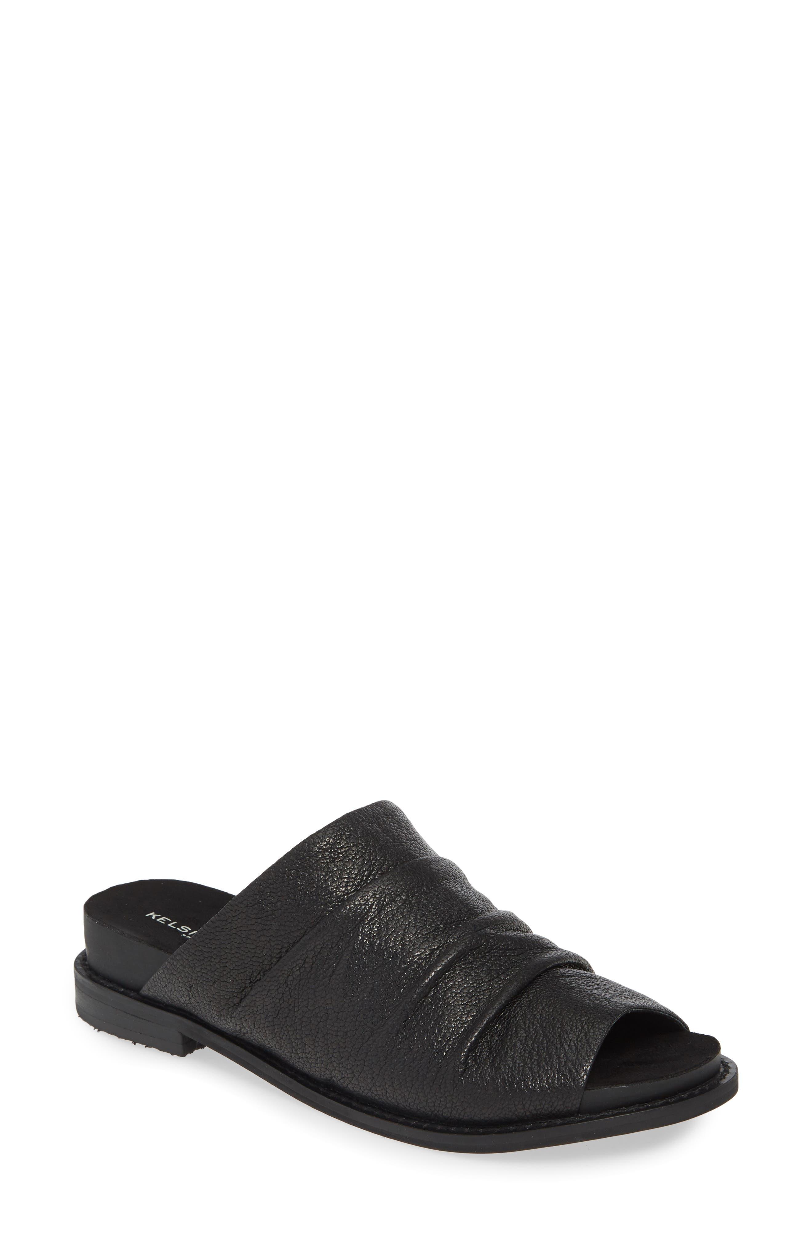 Kelsi Dagger Brooklyn Occupy Slide Sandal- Black