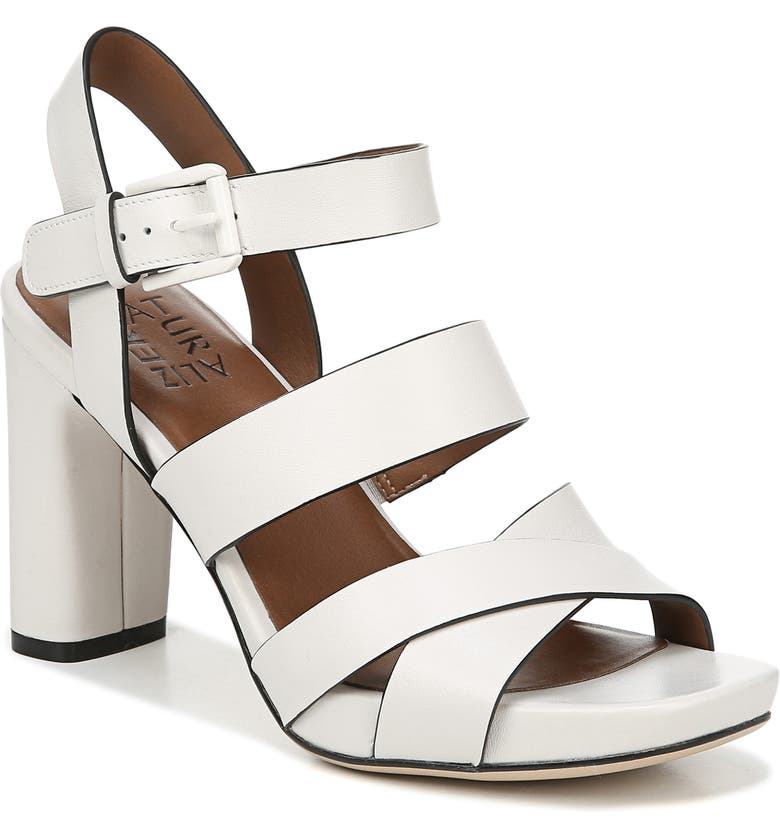 NATURALIZER Julisa Platform Sandal, Main, color, ALABASTER LEATHER