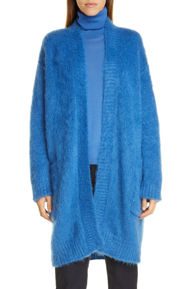 MAX MARA Sampang Mohair Blend Cardigan, Main, color, CORNFLOWER BLUE