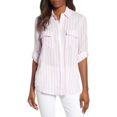 Gibson X Hi Sugarplum! Scottsdale Oversize Button Down Tunic, Pink (Regular & Petite) (Nordstrom Exclusive)