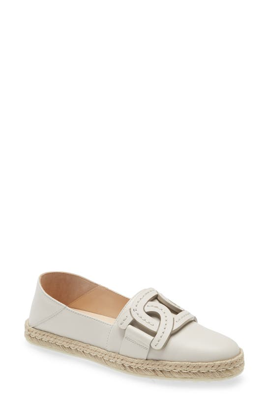 Tod's Leathers KATE CHAIN DETAIL CONVERTIBLE ESPADRILLE FLAT