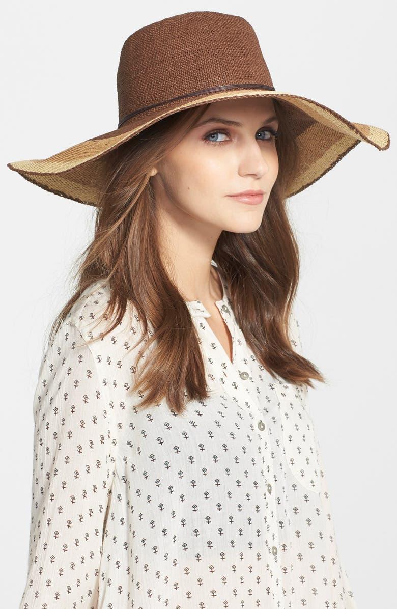 HINGE Multicolor Straw Sun Hat, Main, color, 250