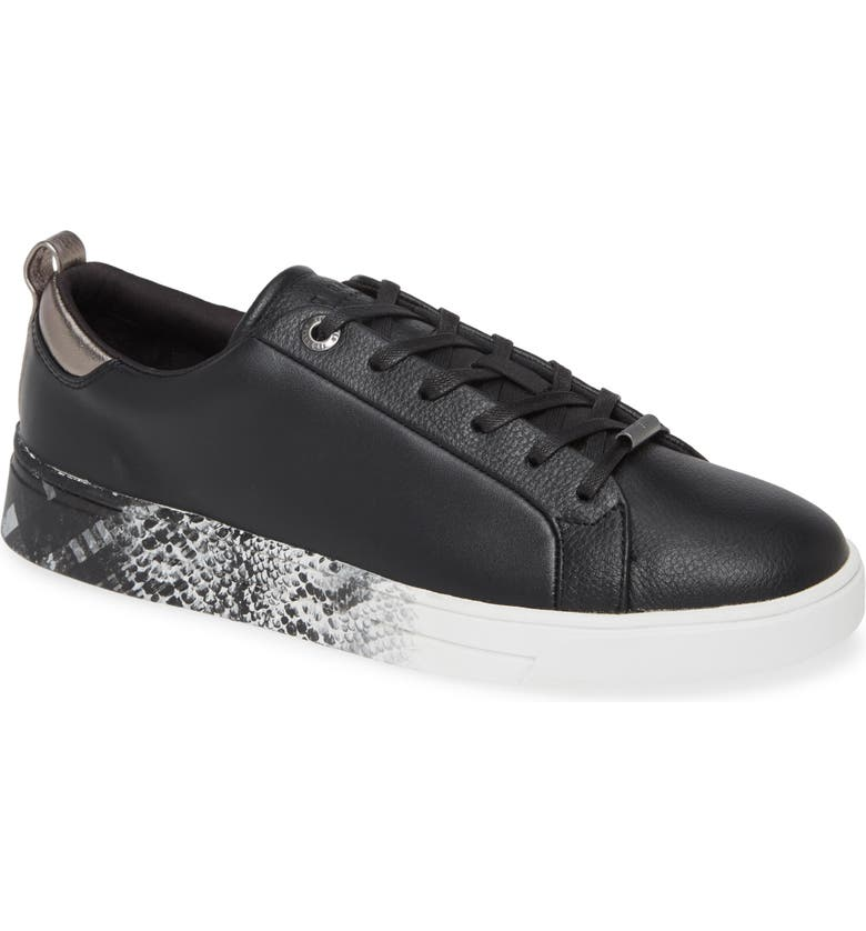 TED BAKER LONDON Relina Sneaker, Main, color, BLACK LEATHER