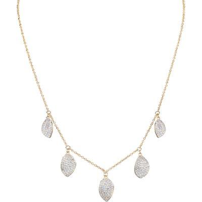 Nina Pave Petal Drop Necklace