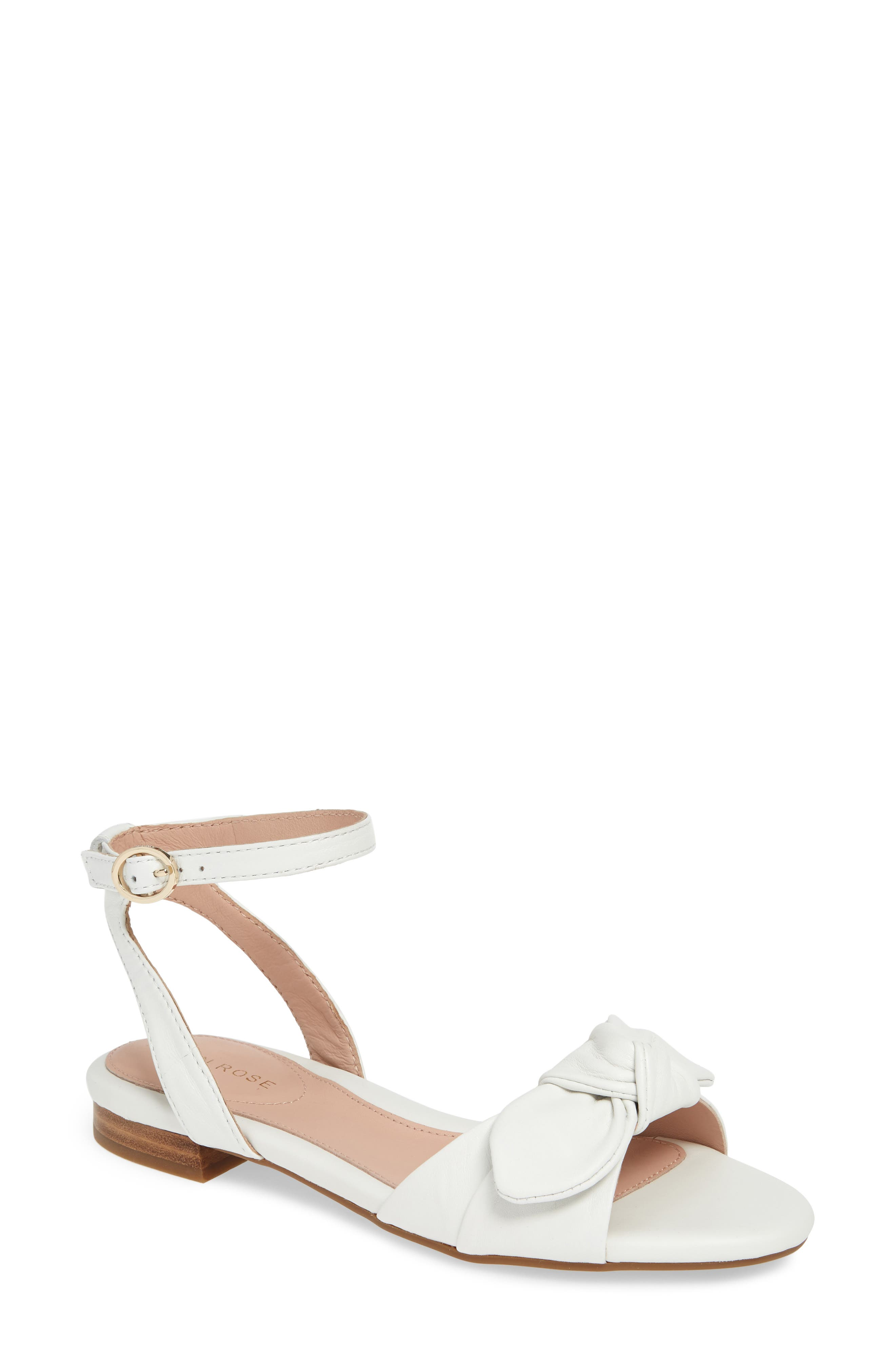 Taryn Rose Vivian Ankle Strap Sandal, White