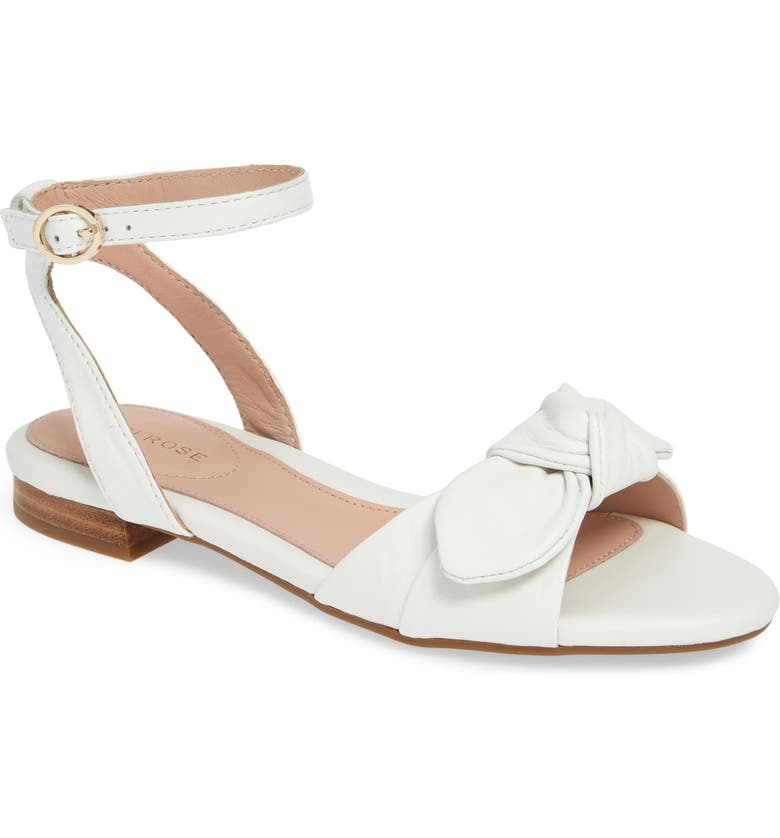 TARYN ROSE Vivian Ankle Strap Sandal, Main, color, WHITE LEATHER