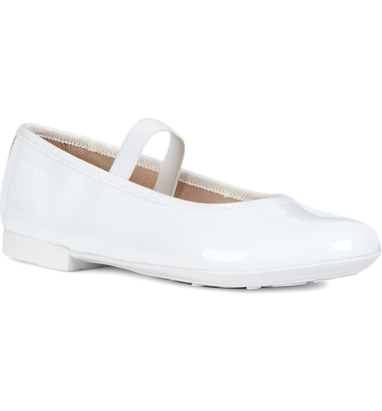 GEOX Plie 5 Mary Jane Ballet Flat, Main, color, WHITE